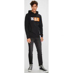 DC - Bluza. Czarne bluzy męskie DC, z nadrukiem, z bawełny. W wyprzedaży za 239.90 zł.