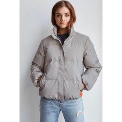 Calvin Klein Jeans - Kurtka puchowa. Szare kurtki damskie Calvin Klein Jeans, z jeansu. Za 1,149.00 zł.