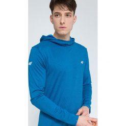 Bluza treningowa męska BLMF003 - denim melanż. Niebieskie bluzy męskie 4f, melanż, z denimu. W wyprzedaży za 149.99 zł.