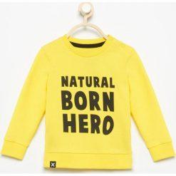 Bluza natural born hero - Żółty. Bluzy dla chłopców Reserved. Za 29.99 zł.