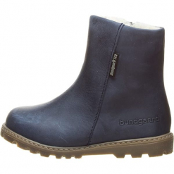 """Skórzane botki zimowe """"Tarok"""" w kolorze granatowym. Niebieskie buty zimowe chłopięce Richter, Bundgaard, Lurchi, z wełny. W wyprzedaży za 227.95 zł."""