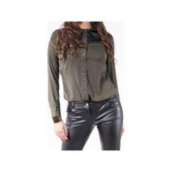 Spodnie biodrówki z eko-skóry SL4002. Czarne spodnie materiałowe damskie Soleil, z jeansu. Za 129.00 zł.