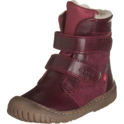 Skórzane botki w kolorze bordowym. Botki dziewczęce Zimowe obuwie dla dzieci. W wyprzedaży za 267.95 zł.