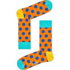 Happy Socks - Skarpety Big Dot. Pomarańczowe skarpety męskie Happy Socks, z bawełny. Za 39.90 zł.