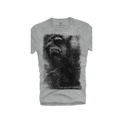 T-shirt UNDERWORLD Ring spun cotton Raven. Szare t-shirty męskie Underworld, z nadrukiem, z bawełny. Za 59.99 zł.
