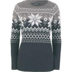 Sweter żakardowy bonprix czarny wzorzysty. Czarne swetry damskie bonprix, z żakardem. Za 74.99 zł.