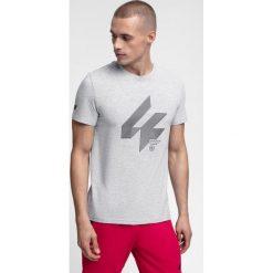T-shirt męski TSM288 - chłodny jasny szary melanż. T-shirty męskie marki Giacomo Conti. Za 49.99 zł.