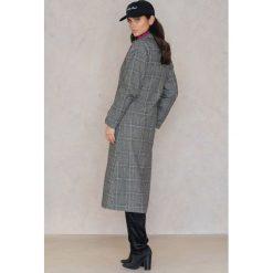 Trendyol Płaszcz w kratę z kołnierzem - Black,Grey,Multicolor. Czarne płaszcze damskie Trendyol. W wyprzedaży za 192.48 zł.