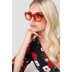 NA-KD Accessories Okulary przeciwsłoneczne kocie oczy - Red. Czerwone okulary przeciwsłoneczne damskie NA-KD Accessories. Za 60.95 zł.