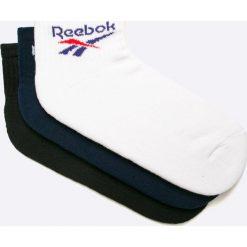 Reebok Classic - Skarpety (3-pack). Białe skarpety męskie Reebok Classic, z bawełny. W wyprzedaży za 49.90 zł.
