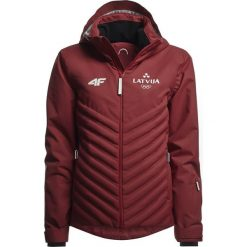 Kurtka narciarska męska Łotwa Pyeongchang 2018 KUMN800 - bordowy. Czerwone kurtki męskie 4f, z napisami, z dzianiny. W wyprzedaży za 999.95 zł.