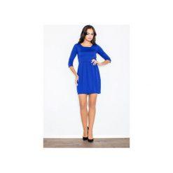 Sukienka M122 Niebieski. Niebieskie sukienki damskie Figl. Za 129.00 zł.