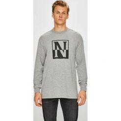 Napapijri - Longsleeve. Szare bluzki z długim rękawem męskie Napapijri, z nadrukiem, z bawełny, z okrągłym kołnierzem. W wyprzedaży za 159.90 zł.