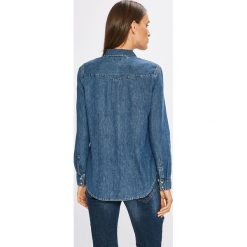 Tommy Jeans - Koszula Western. Szare koszule damskie Tommy Jeans, z bawełny, klasyczne, z klasycznym kołnierzykiem, z długim rękawem. W wyprzedaży za 219.90 zł.