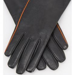 Skórzane rękawiczki - Czarny. Czarne rękawiczki damskie Reserved. Za 119.99 zł.