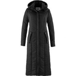 Lekki, długi płaszcz pikowany bonprix czarny. Płaszcze damskie marki FOUGANZA. Za 279.99 zł.
