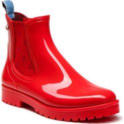 Kalosze TRUSSARDI JEANS - 79A00285 R150. Czerwone kozaki damskie TRUSSARDI JEANS, z jeansu. W wyprzedaży za 379.00 zł.