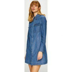 Calvin Klein Jeans - Sukienka. Szare sukienki damskie Calvin Klein Jeans, z bawełny, casualowe, z długim rękawem. Za 539.90 zł.