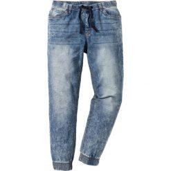 Dżinsy bez zamka w talii Slim Fit Straight bonprix niebieski. Jeansy męskie marki bonprix. Za 124.99 zł.