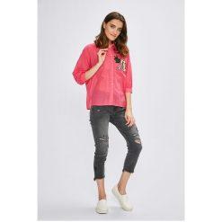 Miss Poem - Koszula. Różowe koszule damskie Miss Poem, z bawełny, casualowe, z długim rękawem. W wyprzedaży za 49.90 zł.