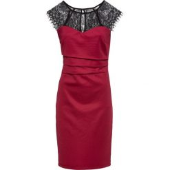 Sukienka bonprix czerwono-czarny. Czerwone sukienki damskie bonprix, z koronki. Za 149.99 zł.