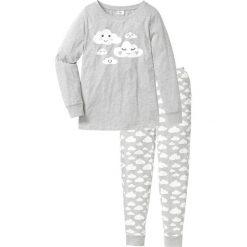 Piżama, bawełna organiczna bonprix jasnoszary melanż z nadrukiem. Piżamy damskie marki MAKE ME BIO. Za 74.99 zł.