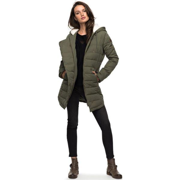 604f6e7755de6 Roxy GLASSY Płaszcz zimowy dusty olive - Płaszcze damskie marki Roxy, na  zimę, z materiału. W wyprzedaży za 607.20 zł. - Płaszcze damskie - Kurtki i  ...