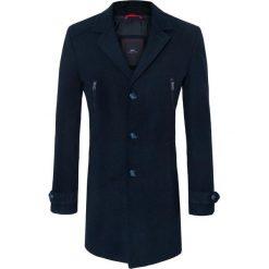 Płaszcz ADRIANO 16-12KK. Czarne płaszcze męskie Giacomo Conti, z aplikacjami, z wełny. Za 699.00 zł.