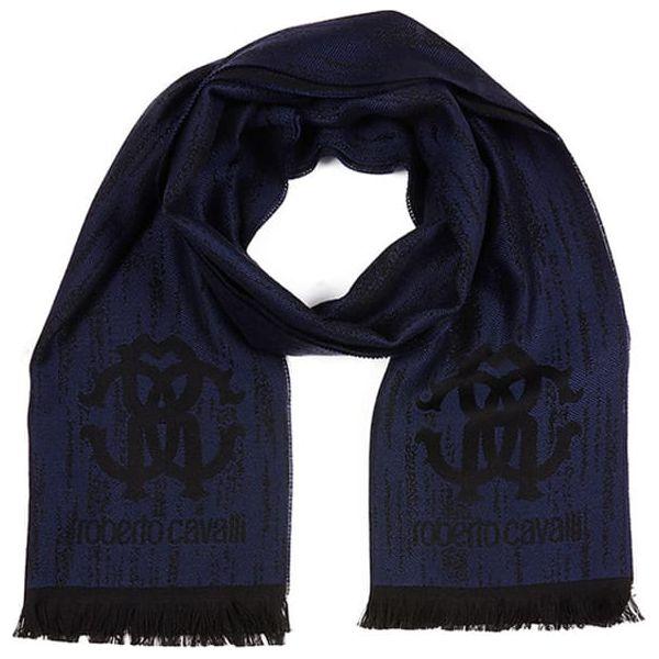 dba2f004f Szal w kolorze ciemnoniebieskim - (S)40 x (W)180 cm - Niebieskie ...