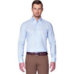 Koszula Błękitna Nilla. Niebieskie koszule męskie LANCERTO, z bawełny, z klasycznym kołnierzykiem. Za 299.90 zł.