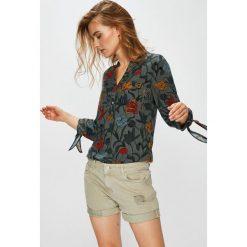 Medicine - Bluzka Basic. Szare bluzki damskie MEDICINE, z tkaniny, casualowe, ze stójką, z krótkim rękawem. W wyprzedaży za 63.90 zł.