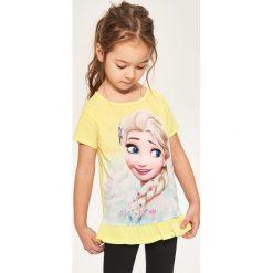 T-shirt z nadrukiem frozen - Żółty. T-shirty damskie marki bonprix. W wyprzedaży za 14.99 zł.