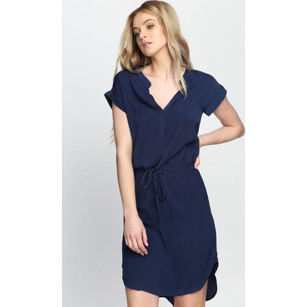5ed0bb4c17 Granatowa Sukienka Blues Intro - Niebieskie sukienki damskie marki ...