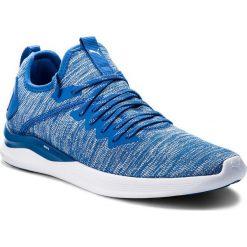 Buty PUMA - Ignite Flash EvoKnit 190508 13 Strong Blue/White. Niebieskie buty sportowe męskie Puma, z materiału. W wyprzedaży za 239.00 zł.