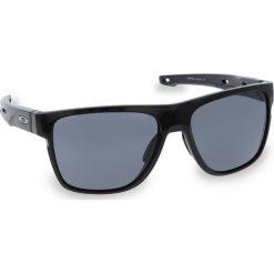 Okulary przeciwsłoneczne OAKLEY - Crossrange XL OO9360-0158  Polished Black/Grey. Czarne okulary przeciwsłoneczne męskie Oakley, z tworzywa sztucznego. W wyprzedaży za 509.00 zł.
