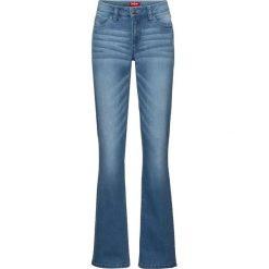 Dżinsy ze stretchem BOOTCUT bonprix jasnoniebieski. Jeansy damskie marki bonprix. Za 89.99 zł.