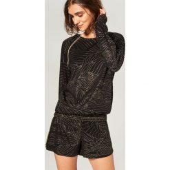 Piżama z szortami - Czarny. Czarne piżamy damskie Reserved. Za 99.99 zł.