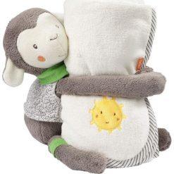 Kocyk Owieczka 38 cm. Szare kocyki dla dzieci Baby Fehn. Za 112.04 zł.