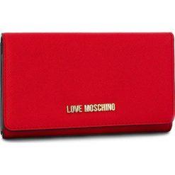 Duży Portfel Damski LOVE MOSCHINO - JC5553PP06LQ0500 Rosso. Czerwone portfele damskie Love Moschino, ze skóry ekologicznej. Za 369.00 zł.