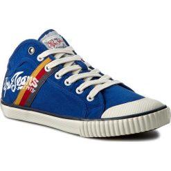 Trampki PEPE JEANS - Industry Teen PMS30228 Prussian 578. Niebieskie trampki męskie Pepe Jeans, z gumy. W wyprzedaży za 149.00 zł.