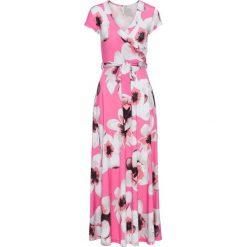Sukienka z wiązaniem z przodu bonprix różowy w kwiaty. Sukienki damskie marki DOMYOS. Za 149.99 zł.