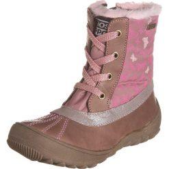 Botki w kolorze jasnobrązowo-jasnoróżowym. Botki dziewczęce Zimowe obuwie dla dzieci. W wyprzedaży za 165.95 zł.