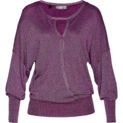 """Sweter """"nietoperz"""" z lureksową nitką bonprix fiołkowy. Swetry damskie marki bonprix. Za 89.99 zł."""