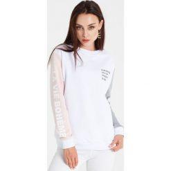 Naoko - Bluza La Vie Boheme Blanc x Edyta Górniak. Szare bluzy damskie NAOKO, z bawełny. W wyprzedaży za 149.90 zł.