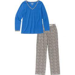 Piżama bonprix lodowy niebieski - leo. Piżamy damskie marki MAKE ME BIO. Za 49.99 zł.