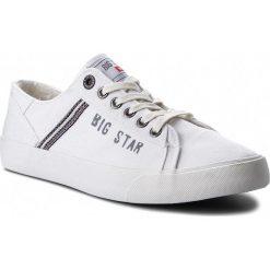 Tenisówki BIG STAR - AA174313 White. Białe trampki męskie Big Star, z gumy. W wyprzedaży za 109.00 zł.