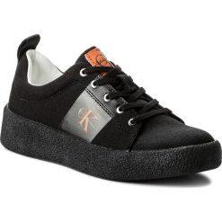 Półbuty CALVIN KLEIN JEANS - Gala R8783 Black. Czarne półbuty damskie Calvin Klein Jeans, z jeansu. W wyprzedaży za 339.00 zł.