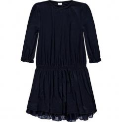 Sukienka w kolorze granatowym. Niebieskie sukienki dla dziewczynek Königsmühle, z tiulu. W wyprzedaży za 77.95 zł.