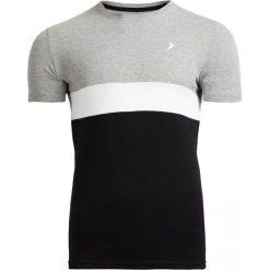 T-shirt męski TSM616 - średni szary melanż - Outhorn. Szare t-shirty męskie Outhorn, na lato, melanż, z bawełny. W wyprzedaży za 29.99 zł.