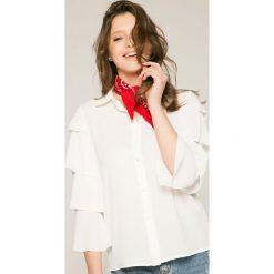Answear - Bluzka Stripes Vibes. Szare bluzki damskie ANSWEAR, z poliesteru, casualowe. W wyprzedaży za 49.90 zł.